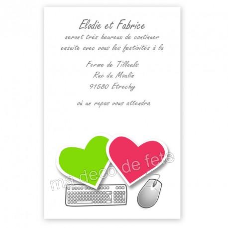 Invitation repas mariage internet