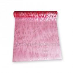 Chemin de table fuchsia organza