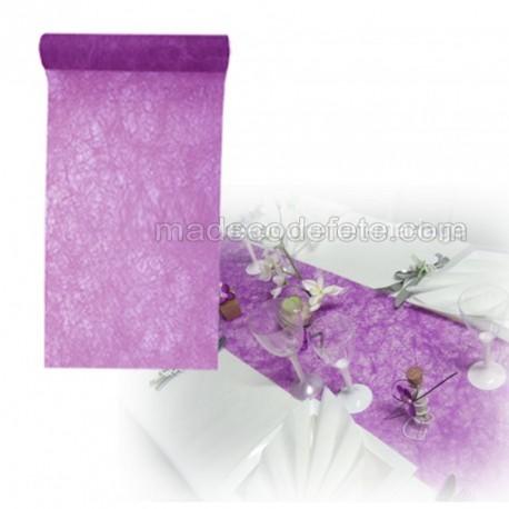 Chemin de table fanon violet 5 m