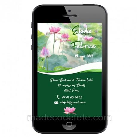 Faire-part numérique lotus zen