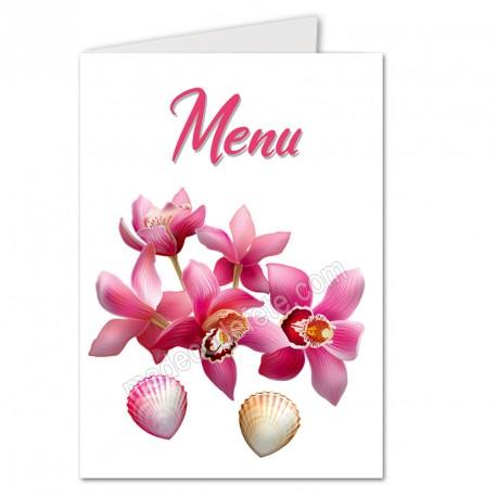 Menu orchidées et coquillages