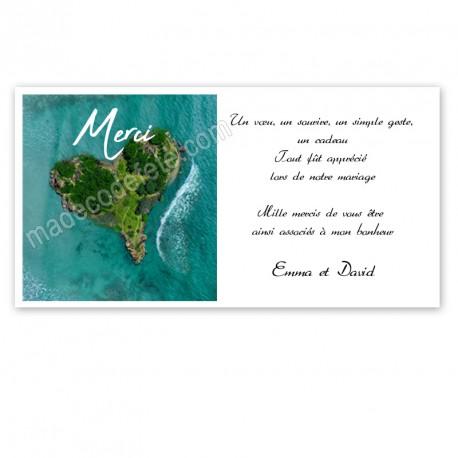 Remerciement coeur des îles