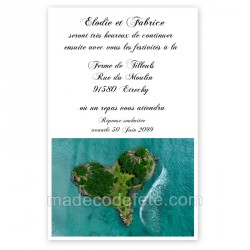 Invitation repas coeur des îles
