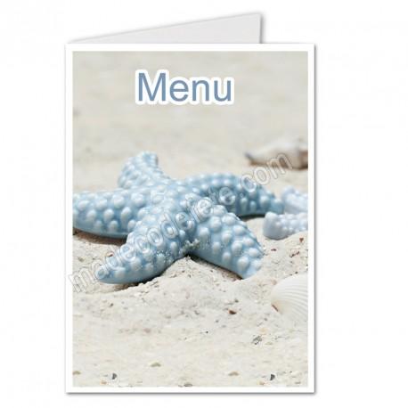 Menu étoile de mer bleue