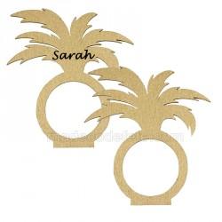 Déco serviette palmier or x2