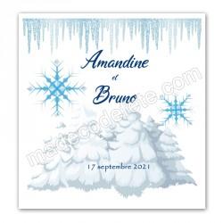 Faire-part thème hiver