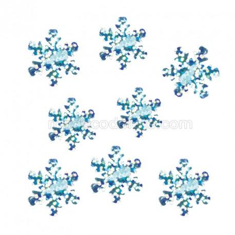 Flocons de neige holo bleu sachet 14 g