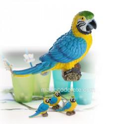 Perroquet résine 9 cm