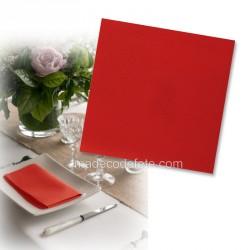Serviettes intissées rouge x 25