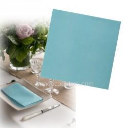 Serviettes intissées bleues x 25