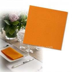 Serviettes intissées orange x 25