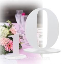 Marque-table 17 cm chiffre 0