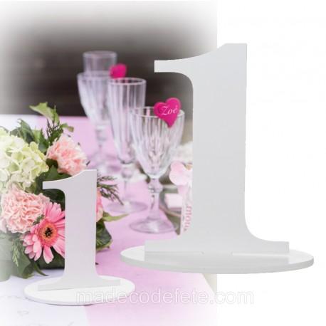 Marque-table 17 cm chiffre 1