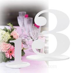 Marque-table 17 cm chiffre 3