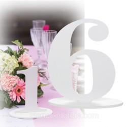 Marque-table 17 cm chiffre 6
