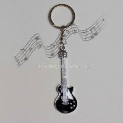 Porte-clé musique guitare noire