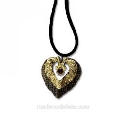 Collier pendentif métal coeur