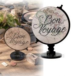 Centre de table mappemonde bon voyage