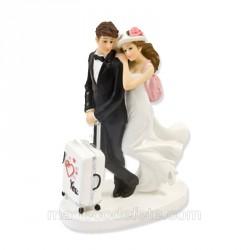 Figurine mariés en voyage