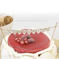 Banderole top cake communion