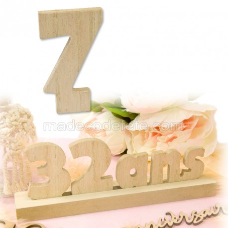 """Chiffre """"7"""" bois anniversaire"""