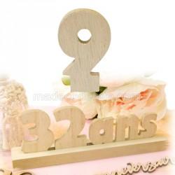 """Chiffre """"9"""" bois anniversaire"""