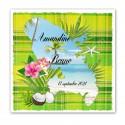 Faire-part Martinique vert