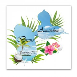Faire-part carte Guadeloupe