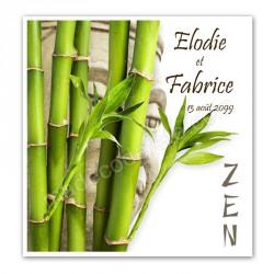 Faire-part zen bambou