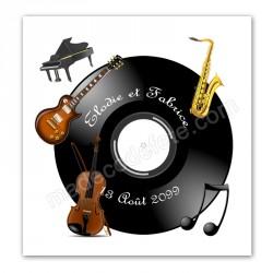 Faire-part instruments musique