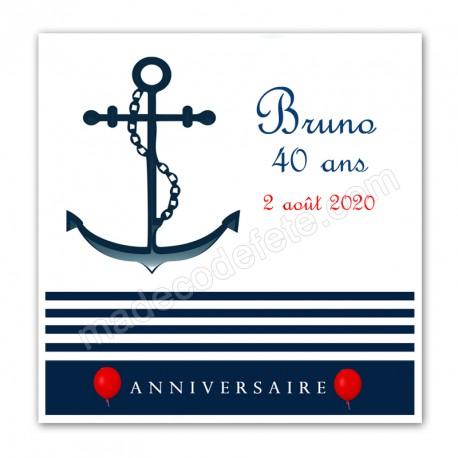 Faire-part anniversaire marin