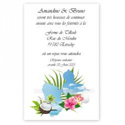 Invitation repas carte Guadeloupe