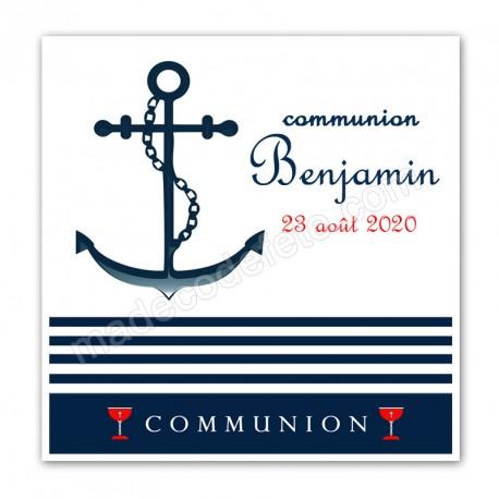 Faire-part communion marin