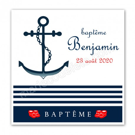 Faire-part baptême marin