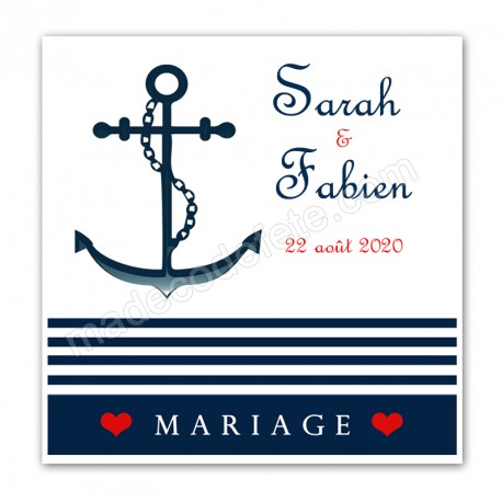 Faire-part mariage marin