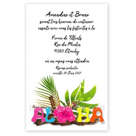 Invitation repas aloha