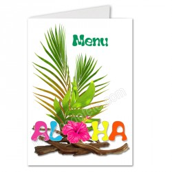 Menu décoratif aloha