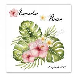 Faire-part bouquet exotique