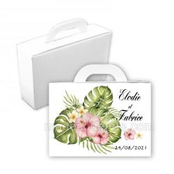 Valise dragées bouquet exotique