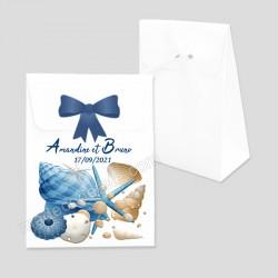 Ballotin dragées coquillages marins