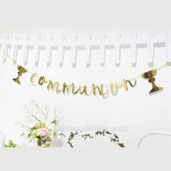 Guirlande communion or
