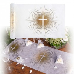 Chemin de table communion or