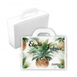 Valise dragées ananas tropical