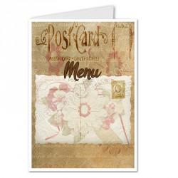 Menu rétro postcard