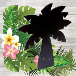 menu palmier ardoise