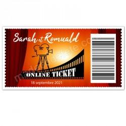 Faire-part ticket cinéma