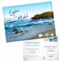 Faire-part carte postale mer