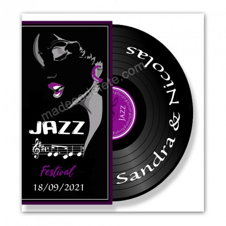 Faire-part musique jazz