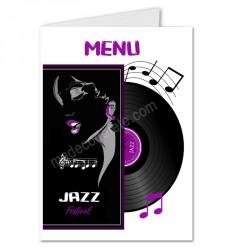 Menu musique jazz