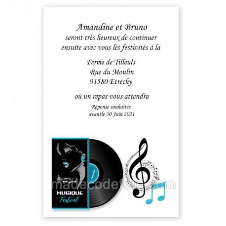 Invitation repas festival musique